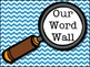 Detective Themed Word Wall (Chevron) with word cards
