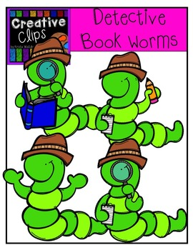 Detective Worms {Creative Clips Digital Clipart}