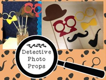 Detective/CSI Photo Booth Props {Silhouette Cut File}