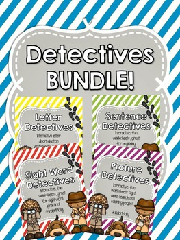 Detectives BUNDLE - Letters, Sight Words and Sentence prac