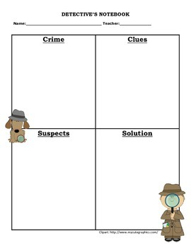 Detective's Notebook graphic organizer