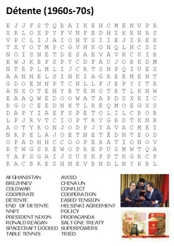Detente - Cold War Word Search