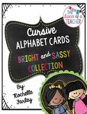 Cursive ABC Cards-Bright and Sassy Collection