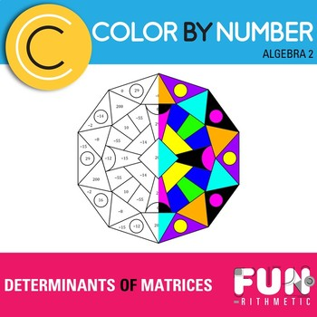 Determinants of Matrices Color by Number
