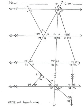 Determine Missing Angle Measures Worksheets