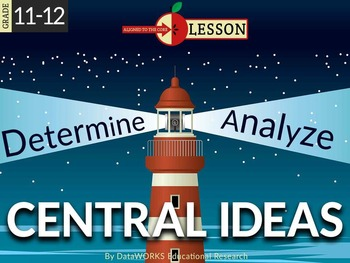 Determine Two or More Central Ideas in Text and Analyze Th