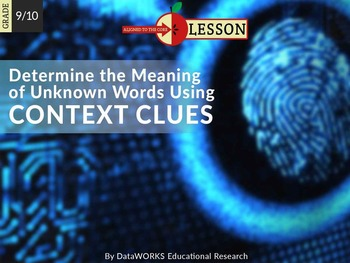 Determine the Meaning of Unknown Words Using Context Clues