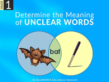 Determine the Meaning of Unclear Words