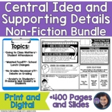 Determining Central Idea and Supporting Details in Nonfict