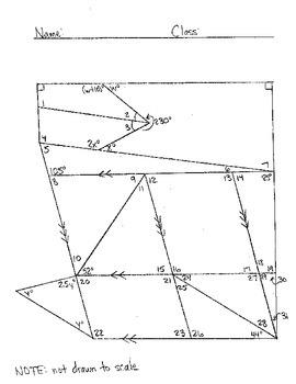 Determining Missing Angle Measures Worksheets #2