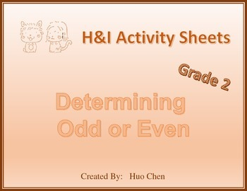 Determining Odd or Even (H&I Activity Sheets)