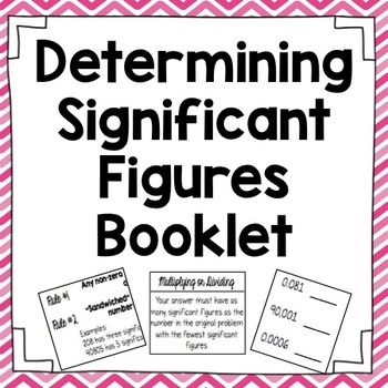 Determining Signficant Figures Interactive Notebook Booklet