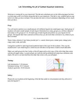 Determining pH Lab