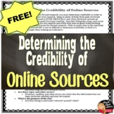 FREE! Determining the Credibility of Online Sources