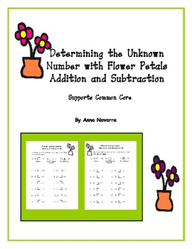 Determining the Unknown Number with Flower Petals