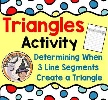 Determining when 3 line segments create a Triangle Sides o