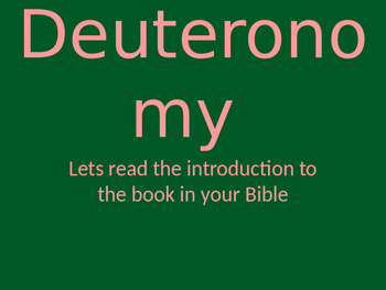 Deuteronomy  PowerPoint
