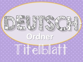 Deutsch-Ordner Titelblatt zum Ausmalen