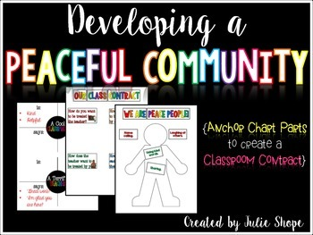 Developing a Peaceful Community {Anchor Chart Parts for a