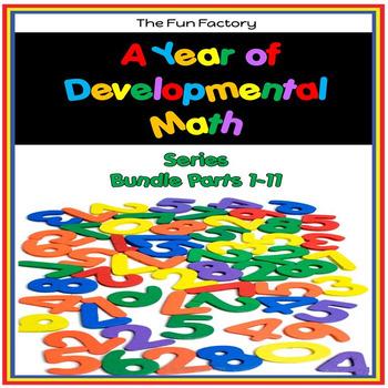 A Whole Year of Developmental Math Skills {PK/K } - The Bundle