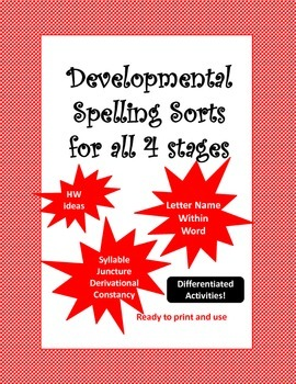 Developmental Spelling Sorts and Activities