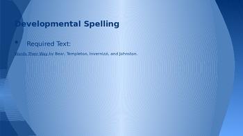 Developmental Spelling Stages