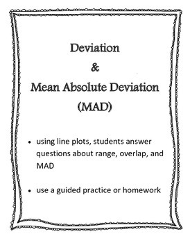 Deviation and Mean Absolute Deviation