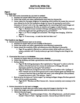 Devil in the White City-Close Reading Questions