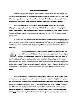 Development of Feudalism Reading