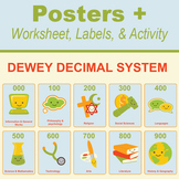 Dewey Decimal Posters Plus - Worksheet, Activity and Labels