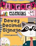 Dewey Decimal Signage- Dewey Decimal for Libraries