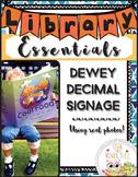 Dewey Decimal Signage using REAL PICTURES- Dewey Decimal f