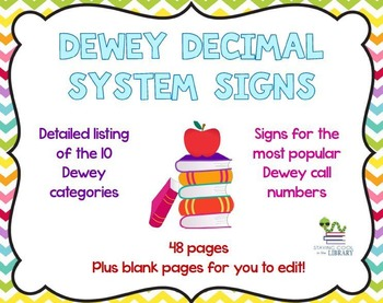 Dewey Decimal System Signs and Posters - Chevron