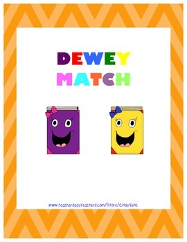 Dewey Match Game- Library Skills