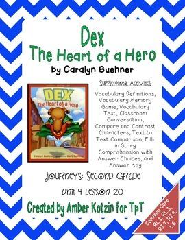 Dex: The Heart of a Hero Activities 2nd Grade Journeys Uni