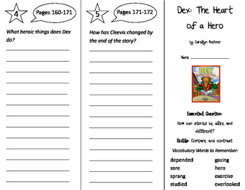Dex: The Heart of a Hero Trifold - Journeys 2nd Grade Unit