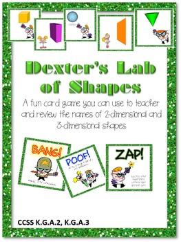 $$DollarDeals$$ Dexter's Lab of Shapes Card Game