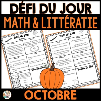 Défi du jour - Octobre  (French Problem of the day and Lit