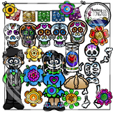 Dia De Los Muertos (Day of the Dead) Clipart Bundle