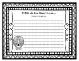 Dia de Los Muertos Writing Page
