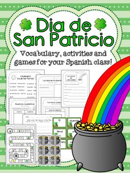 Dia de San Patricio - Spanish activity packet!