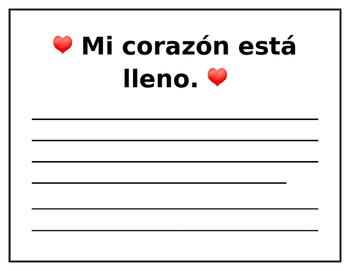 Dia de San Valentin, Valentine's Day Writing Prompt