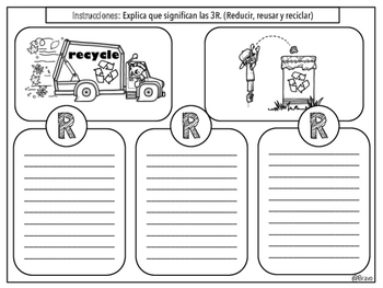 Dia de la Tierra (3R writing)  / Earth Day Spanish