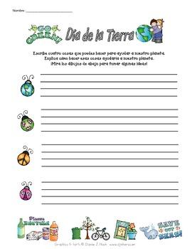 Spanish Earth Day Activity (Día de la Tierra)