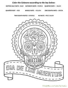 Dia de los Muertos #2 Color-by-Note