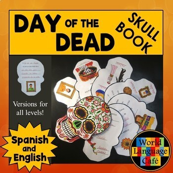 Día de los Muertos, Day of the Dead Skull Mini Book Englis