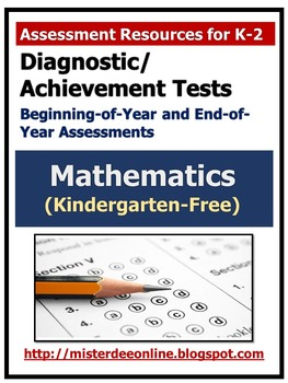 Diagnostic/Achievement Test in Mathematics (Kindergarten-Free)