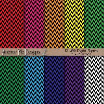 Diagonal Striped Papers for Bulletins, Backgrounds & More