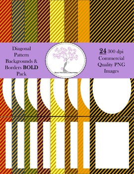 Diagonal Striped Pattern Backgrounds and Borders BOLD Pack