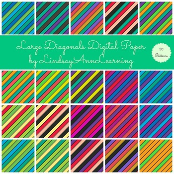 Striped Digital Papers